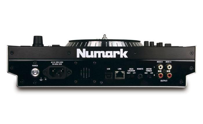 numark v7 controller rear panel