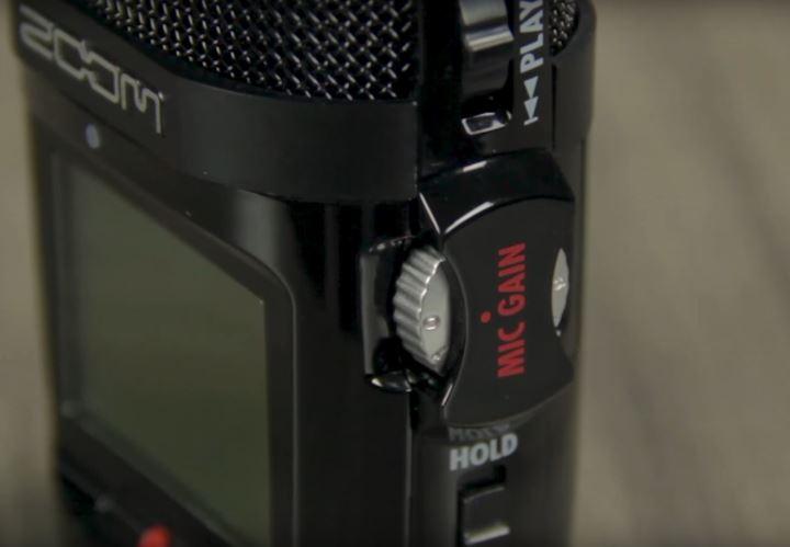 zoom h2n handy recorder mic gain dial