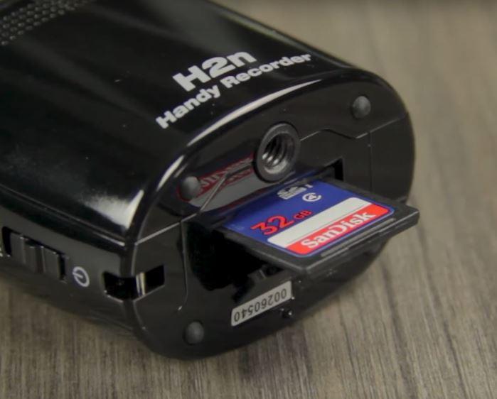 zoom h2n ejecting sc memory card