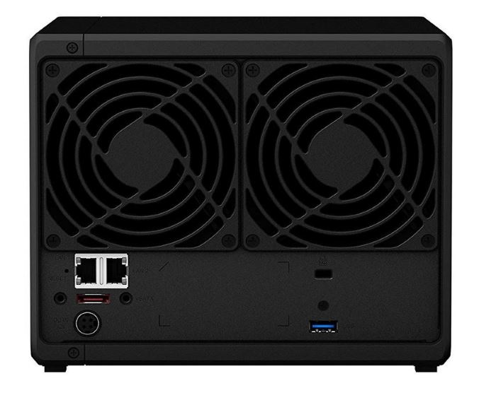synology 4 bay nas diskstation ds918+ (diskless) rear panel
