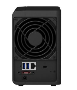 Synology DS218+rear panel