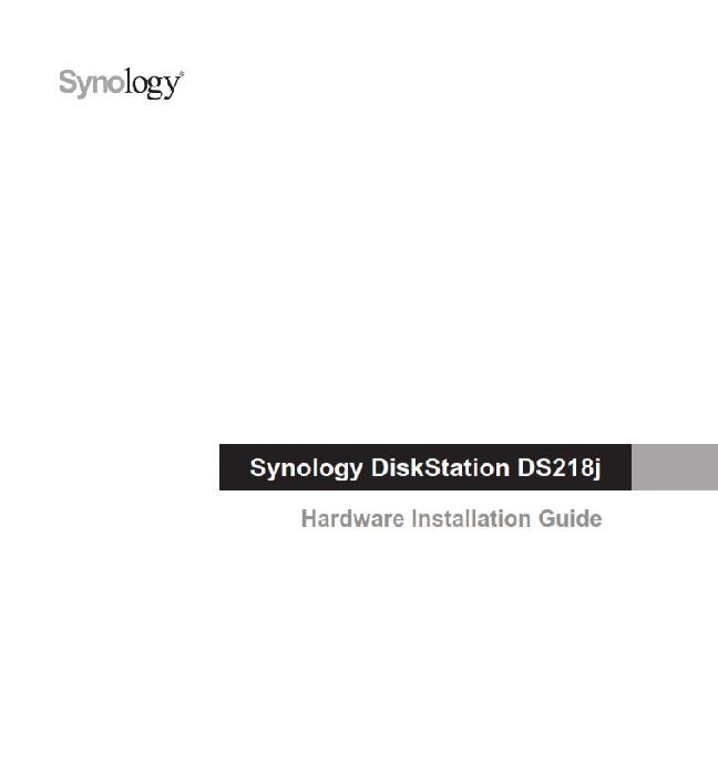 Synology DS218j Manual