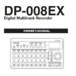 Tascam DP-008EX Manual pdf first page