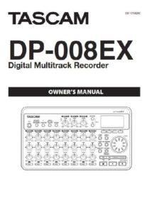 Tascam DP-008EX Manual